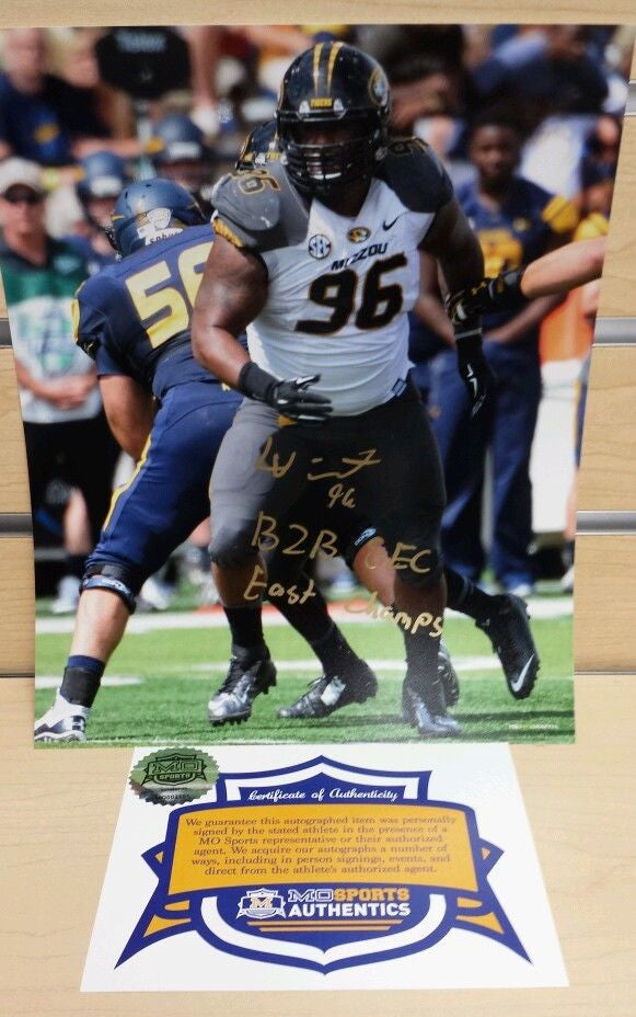 Missouri Tigers Lucas Vincent Signed Autographed 8x10 Photo COA