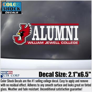 William Jewell College Alumni Color Shock Decal