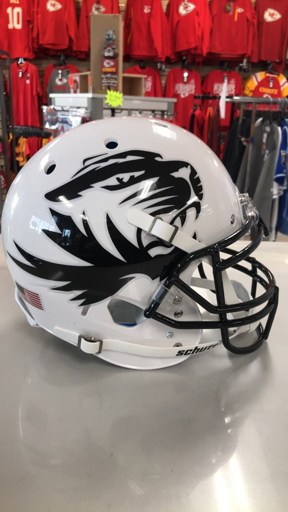Missouri Tigers Full Size Schutt Air XP Authentic White w/ Black Tiger Helmet