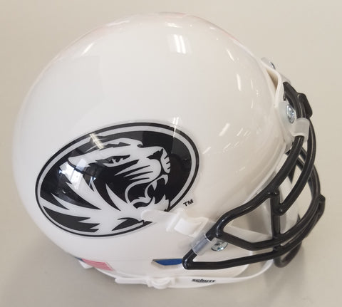 Missouri Tigers White w/ Black Oval Tiger Mini Helmet by Schutt