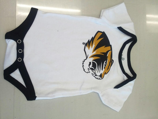 Missouri Tigers Tiger Head Logo White Onesie Infant Sizes