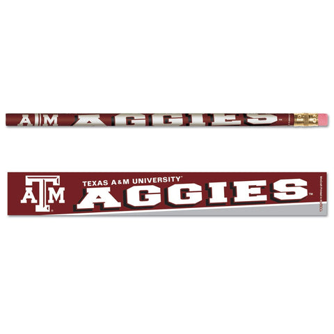 Texas A&M University Pencil 6-pack