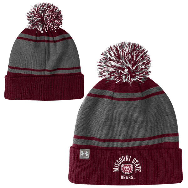 Missouri State Pom Maroon Knit Hat by Under Armour