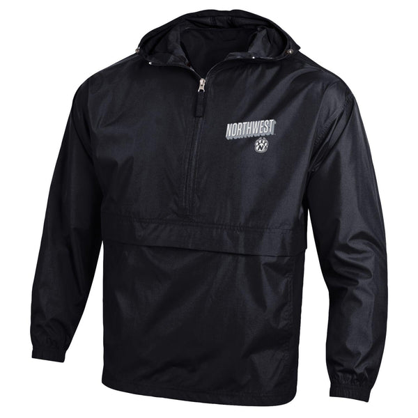 "Northwest Bearcats ""Black'' Windbreaker Packable Jacket by Champion"