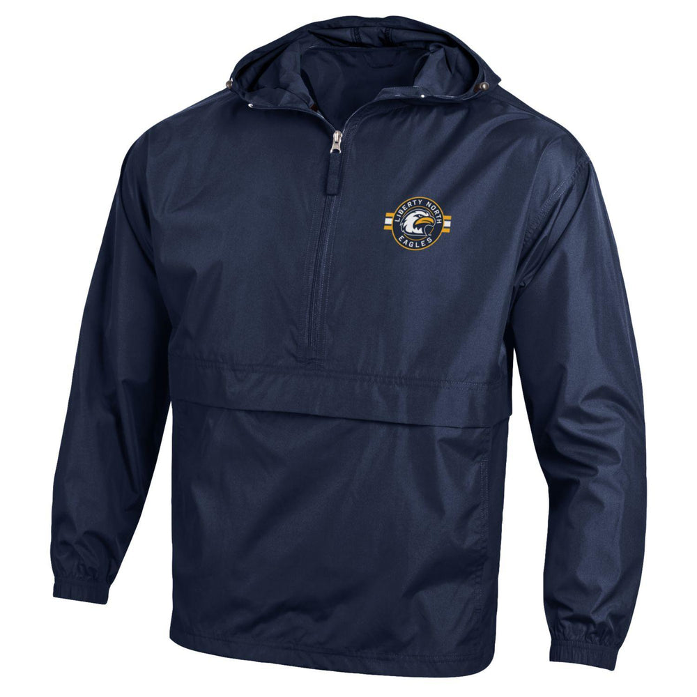 Liberty North Eagles Circle Logo Windbreaker Packable Jacket by Champion