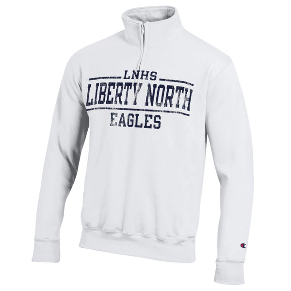 Liberty North Eagles White 1/4 Zip Pullover by Champion