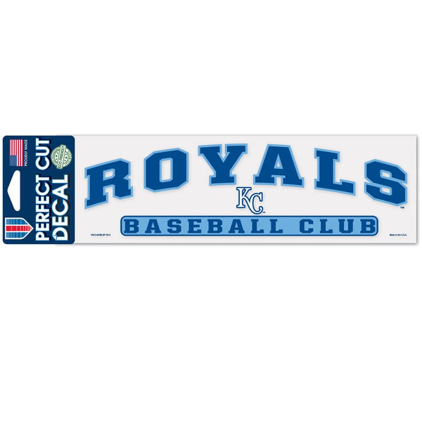 "Kansas City Royals Arched Perfect Cut Decals 3"" x 10"" by Wincraft"
