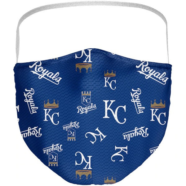 Kansas City Royals Adult All Over Logo Face Covering 3-Pack by Fanatics