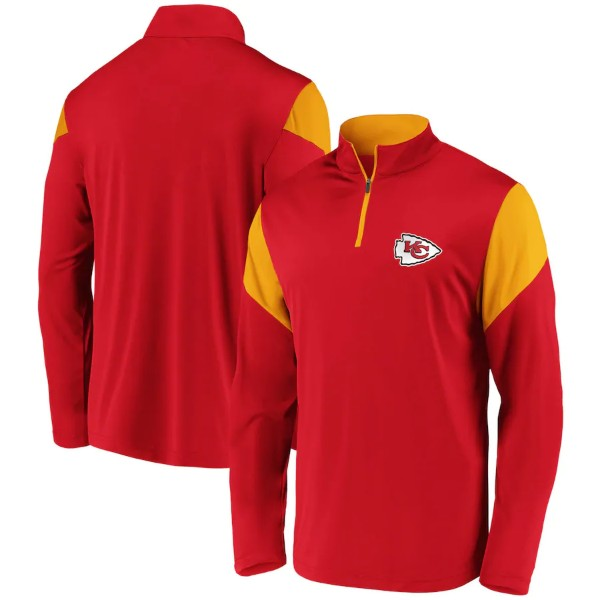 Kansas City Chiefs Primary Logo Raglan Quarter-Zip Pullover by Fanatics