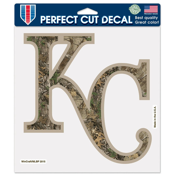 "Kansas City Royals / Camo MLB Perfect Cut Color Decal 8"" x 8"" by Wincraft"