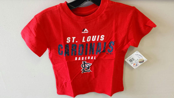 St. Louis Cardinals Boys 4-7 T-Shirt by Majestic