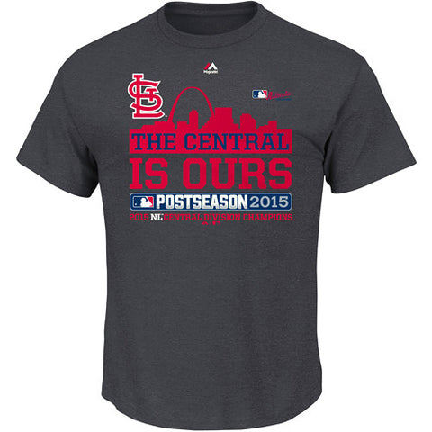 St. Louis Cardinals We Own The Central Division Champs Locker Room T-Shirt by Majestic