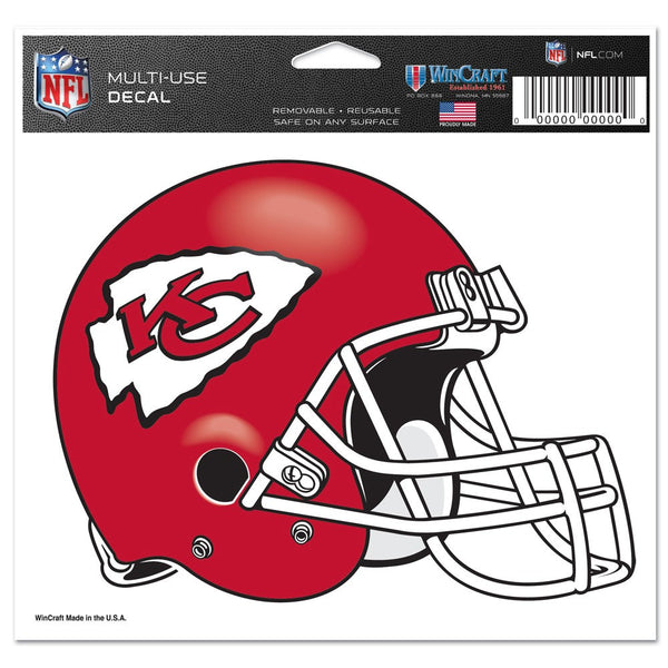 "Kansas City Chiefs Multi-Use Colored Decal 5"" x 6"""