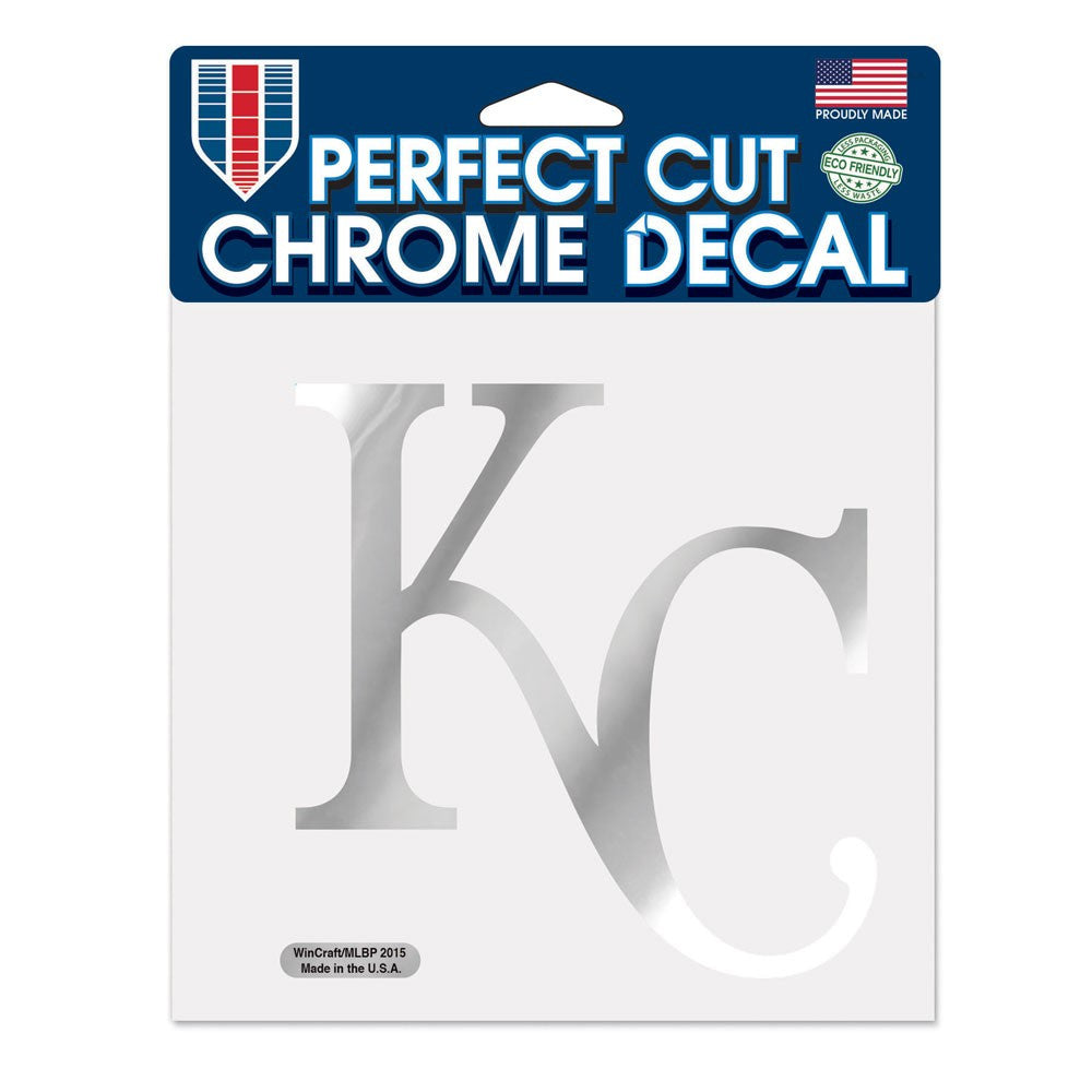 "Kansas City Royals Chrome Perfect Cut Decal 6"" x 6"" by Wincraft"