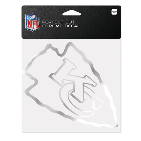 "Kansas City Chiefs Chrome Perfect Cut Decal 6"" x 6"""
