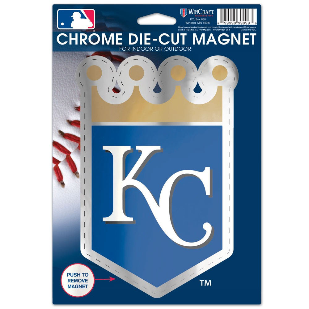 Kansas City Royals Chrome Magnet 6.25 x 9 by Wincraft