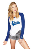 Liberty Blue Jays Colleen Home Run Baseball Tee by Stadium Chic
