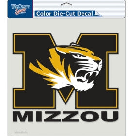 "Missouri Tigers Die-Cut Decal - 8""x8"" Color by Wincraft"