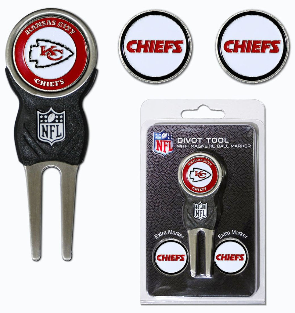 Kansas City Chiefs Golf Divot Tool with 3 Markers