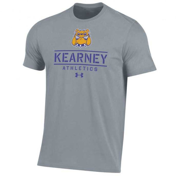 Kearney Bulldogs Gray Dual-Blend T-Shirt by Under Armour