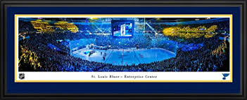 Framed St. Louis Blues Panorama - Enterprise Center Fan Cave Picture