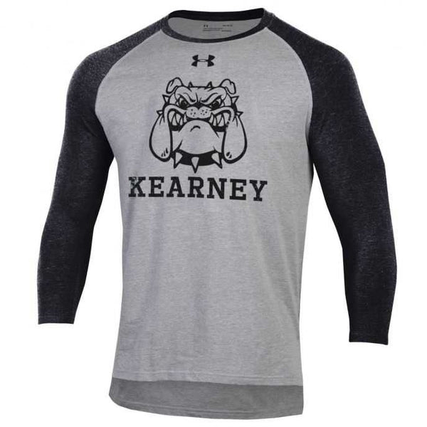 Kearney Bulldogs Tri-Blend Baseball 3/4 Sleeve T-Shirt by Under Armour