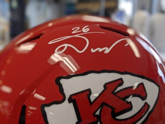 Kansas City Chiefs Damien Williams Signed Full Size Speed Replica Helm Mo Sports Authentics Apparel Gifts