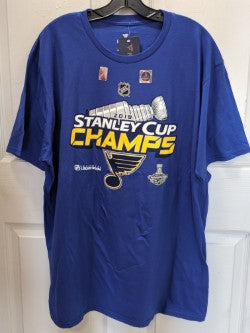 St. Louis Blues Authentic Locker Room Stanley Cup T-Shirt by Fanatics