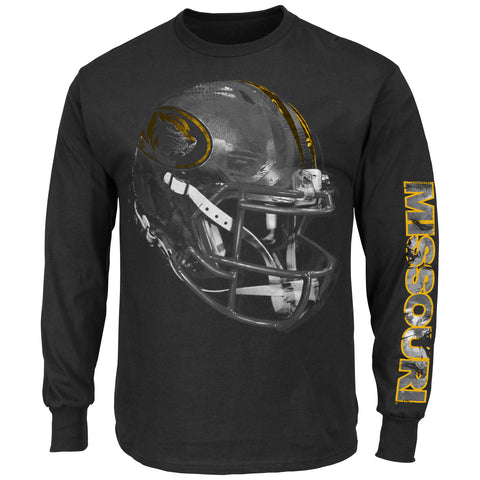 Missouri Tigers Reflective Sideline Completion Long Sleeve T-Shirt by Majestic