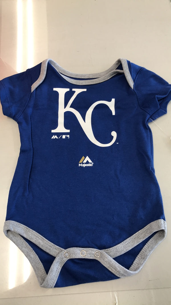Kansas City Royals Royal Blue KC Logo Onesie 12-24M by Outerstuff