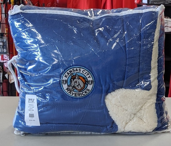 "Kansas City Mavericks Blue Mink Sherpa 50"" x 60"" Ultimate Blanket"