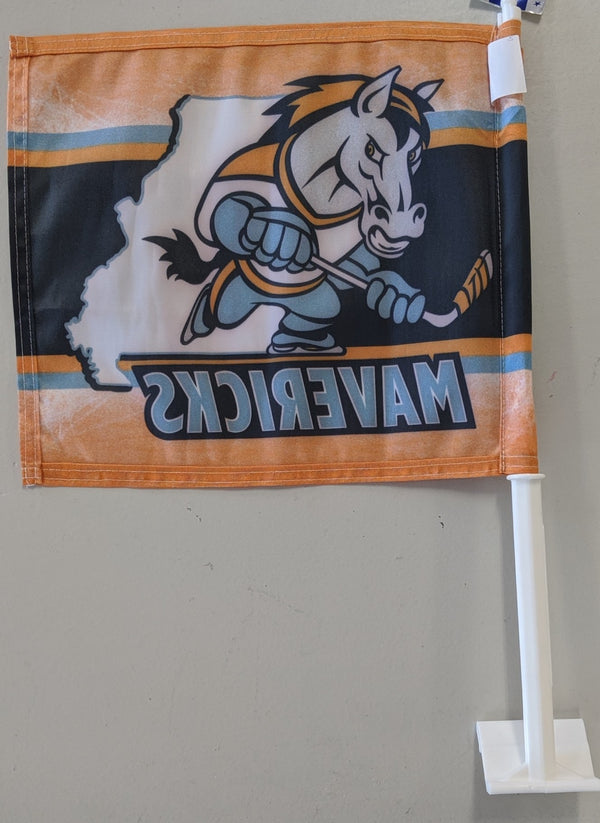 Kansas City Mavericks Two-Sided Car Flag