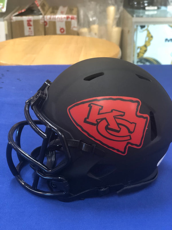 Kansas City Chiefs Frank Clark Signed Mini Eclipse Helmets JSA