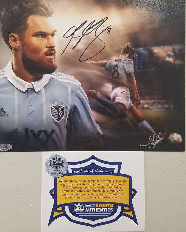 Sporting Kansas City Graham Zusi Signed Autographed 8