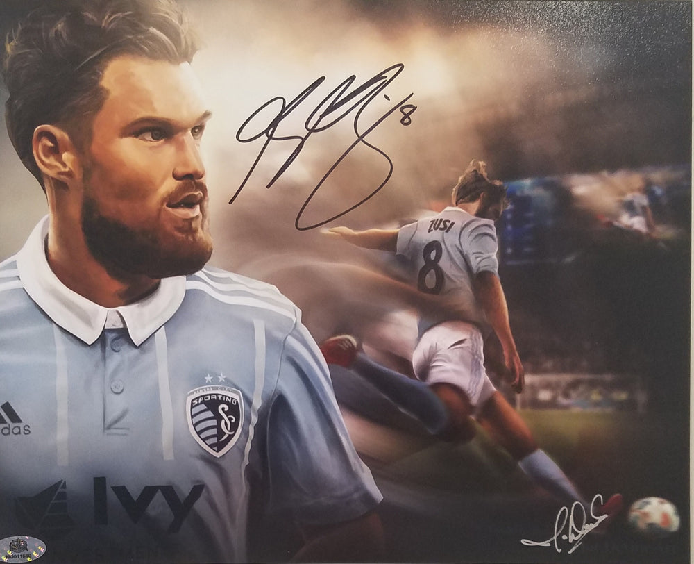 "Sporting Kansas City Graham Zusi Signed Autographed 8""x10"" Joe Devine Art Print COA"