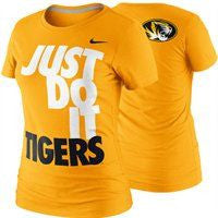 Missouri Tigers Ladies Gold S/S Just Do It Tee by Nike