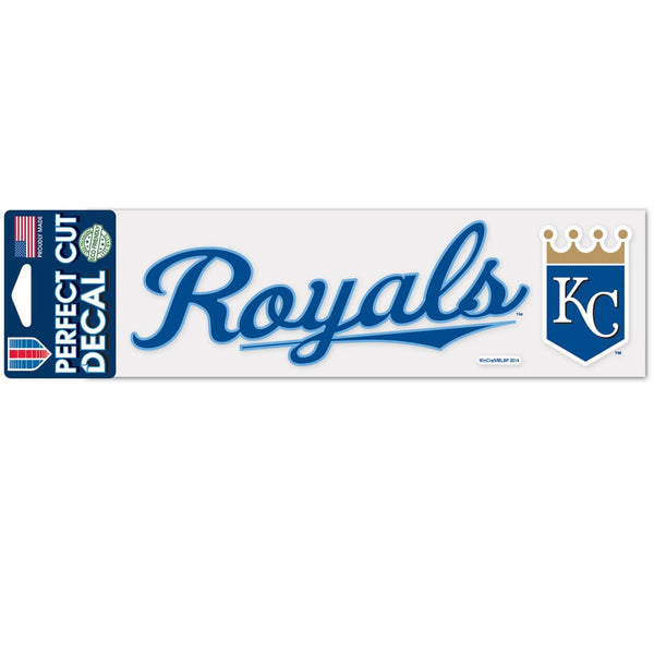 "Kansas City Royals Script Design Perfect Cut Decals 3"" x 10"" by Wincraft"