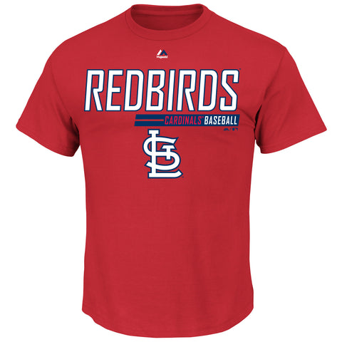 St. Louis Cardinals Laser Like Focus Short Sleeve T-Shirt by Majestic