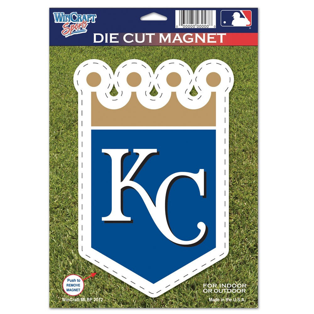"Kansas City Royals Die Cut Logo Magnet 6.25"" x 9"" by Wincraft"