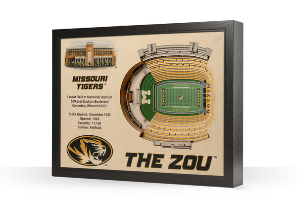 Missouri Tigers 25 Layer Wood StadiumView Wall Art