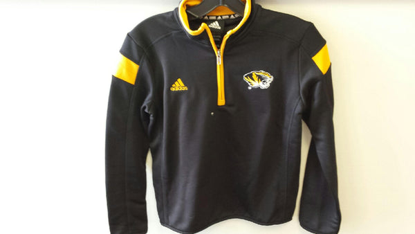 Missouri Tigers Youth Boys 1/4 Zip Coaches Pullovers by adidas
