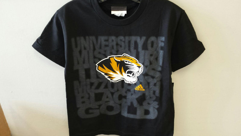Missouri Tigers Boys 8-20 Cheer II T-Shirt by Adidas