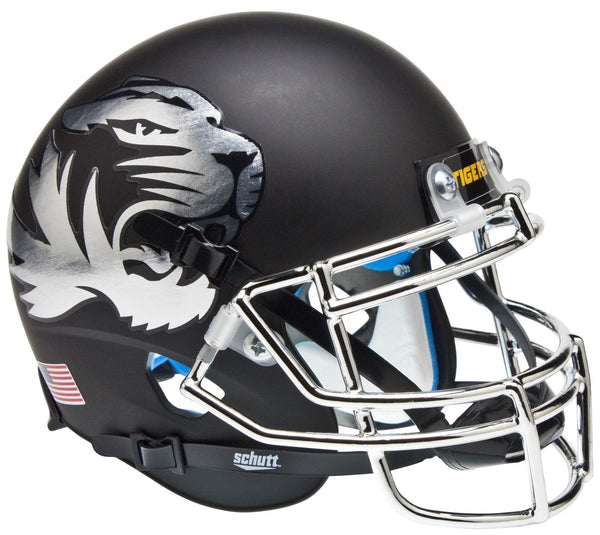 Missouri Tigers Alternate Silver Schutt Mini Authentic Helmet
