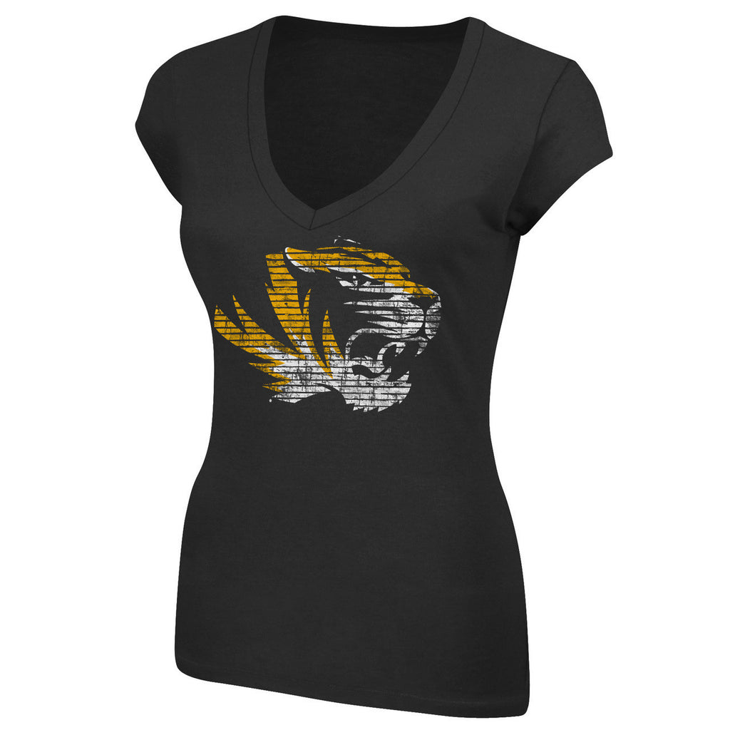 Missouri Tigers Make The Call Ladies V Neck Tee by Majestic