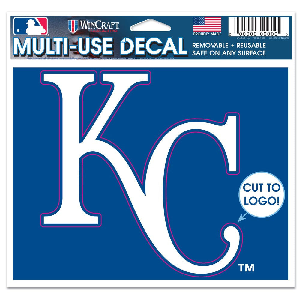 "Kansas City Royals Multi-Use Decal 4.5"" x 5.75"" by Wincraft"