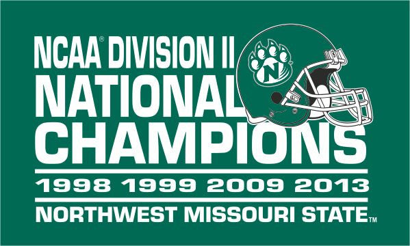 Northwest Missouri State National Champs 3'x5' Screened Flag