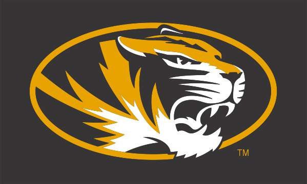 Missouri Tigers 3'x5' Silk Screened Flag Oval Tiger