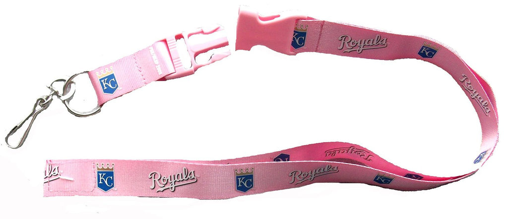 Kansas City Royals Breakaway Lanyard with Key Ring - Pink