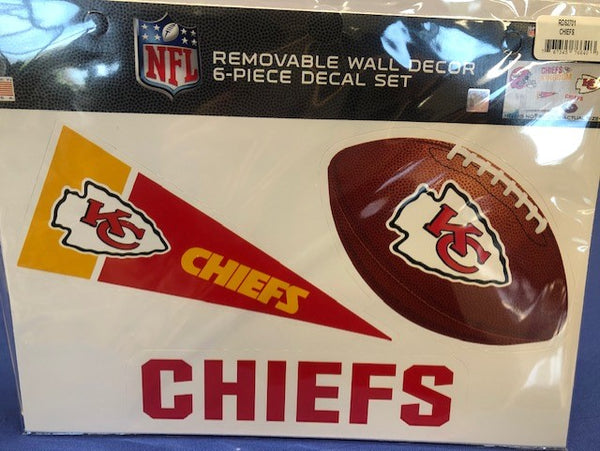 Kansas City Chiefs Removeable Wall Decor 6-Piece Decal Set by Rico