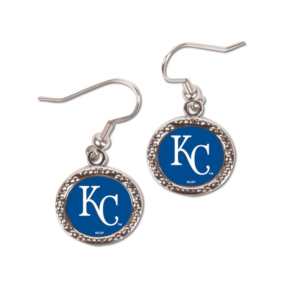 Kansas City Royals Earrings Jewelry Carded Round Mo Sports